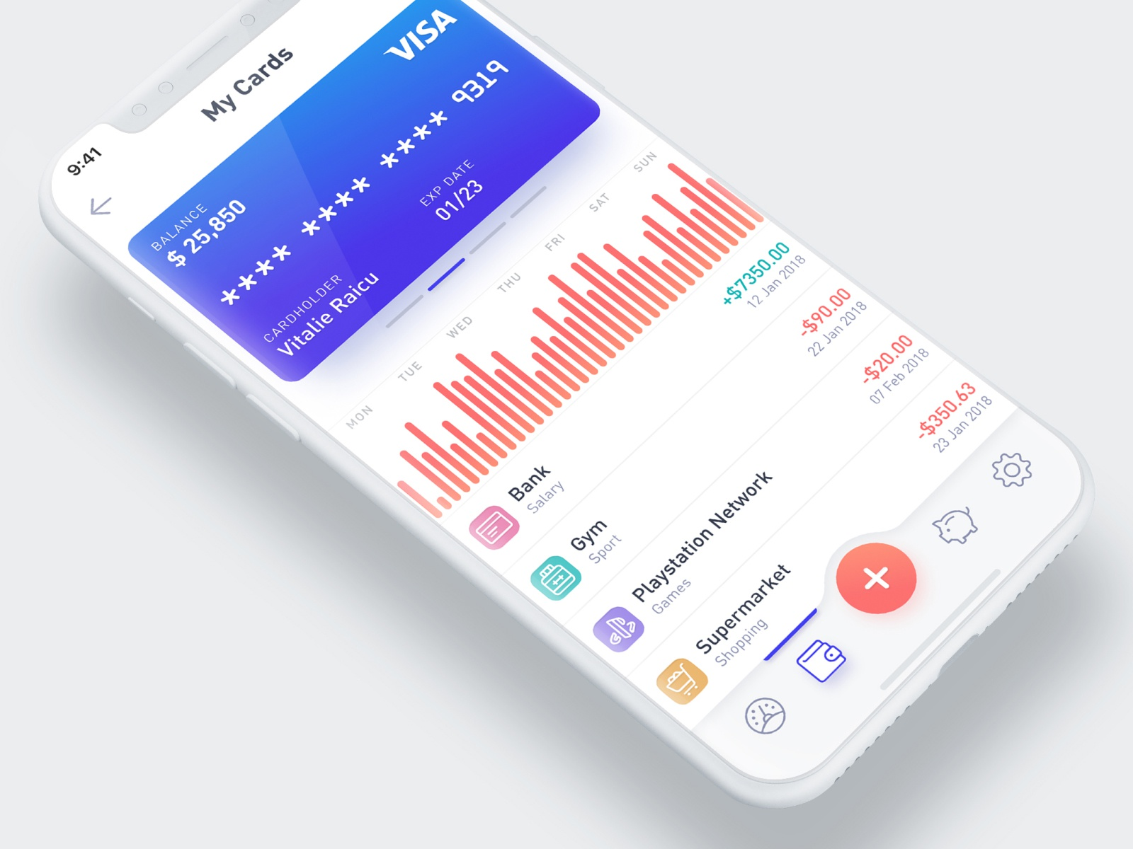 Mobile Wallet UI interface mobile app mobile analytics reports dashboard user interface ui
