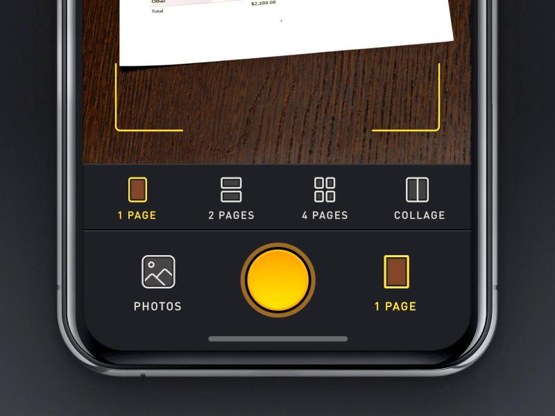 Mobile Scan App dark app dark iphone scanner interface user interface ui ios mobile app