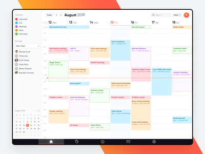 Calendar web app user interface dashboard ux ui web application calendar 2019 web app design web app calendar design calendar app calendar ui calendar