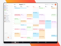 Calendar web app user interface dashboard ux ui web application calendar 2019 web app design web app calendar design calendar app calendar ui calendar