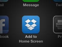 Dropbox iPhone App Icon