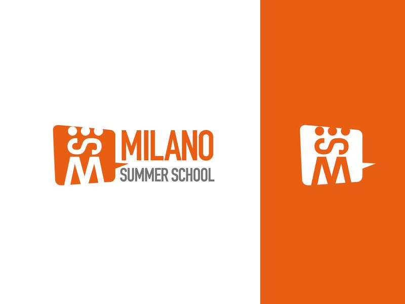 Milano Summer School - Logo orange design branding logo