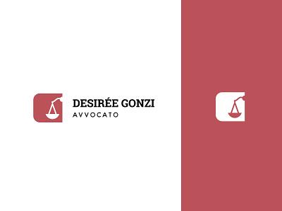 Desirée Gonzi - Logo lawyer design logo branding