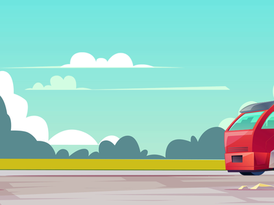 TRUCK on Road, GIF Animation