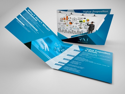 Digital Marketing Company Brochure (Horizontal Brochure)