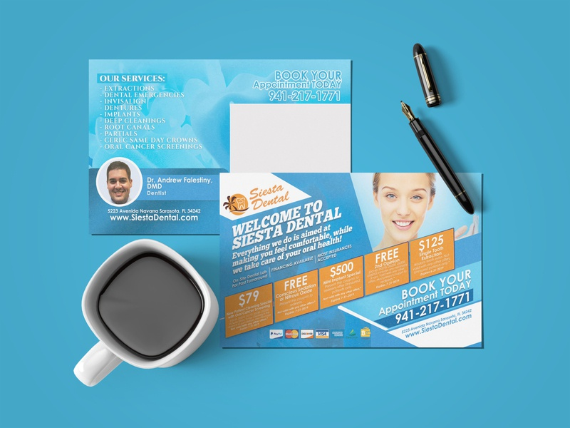 Dental Postcard design