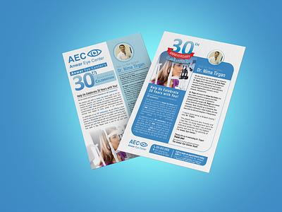 Dentist Mailing FLYER dental care dentistry dental dentist medical clinic flyer design design branding clean