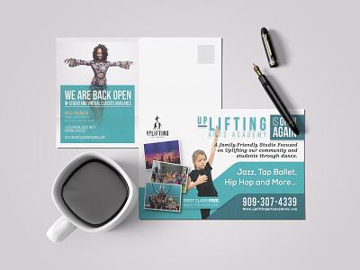 Postcard design postcard design hiphop tap ballet jazz salsa dance postcard flyer design design branding clean