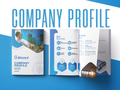 Company Profile design profile company clean branding brochure design brochure layout brochure design
