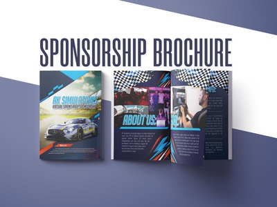Car racing Sponsorship Brochure brochure design brochure layout branding design clean brochure racing