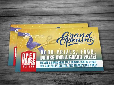 Grand Opening, Open house Flyer design