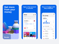 Revolut App Store Screenshots 2.0 graphicdesign app showcase animation app store screenshots user experience user interface mobile bank ios minimal revolut screenshots googleplay app store app