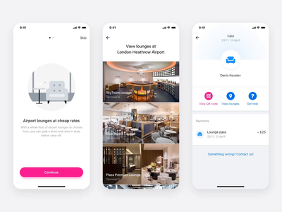 Airport Lounges — App