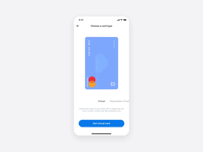 Virtual Cards (3D view) digitaldesign ux ui product design minimal card ios creditcard card order flow card design app design app animation virtual virtual cards 360 degree interaction design principle minimal
