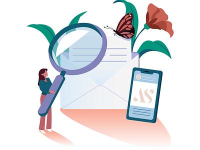 Newsletter email butterfly onboarding newsletter illustrator web vector editorial amsterdam design adobe illustrator adobe photoshop illustration
