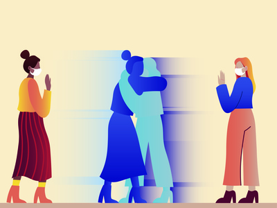 Show more empathy design illustration vector illustratie advertising editorial facemasks corona illustrator adobe illustrator