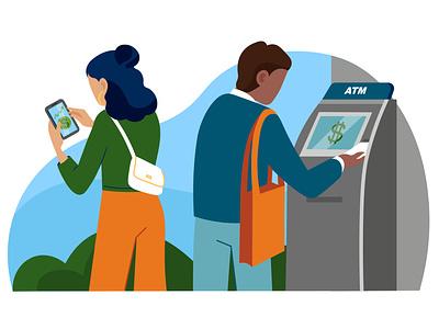 Financial health jp morgan chase washington post finance art onboarding landingpage illustratie amsterdam vector editorial design adobe illustrator adobe photoshop illustration