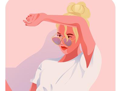Summer Heat fashion illustration summer heat tropical digital illustration girl dutch ux ui web illustratie branding vector editorial holland amsterdam design adobe illustrator illustration adobe photoshop