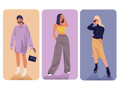 Girls girls girls digtial design illustration design girls illustratie branding vector amsterdam editorial holland design adobe illustrator illustration adobe photoshop