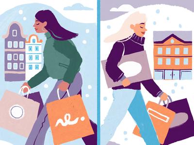 Black Friday illustratie utrecht illustrator save the planet shopping black friday design illustration