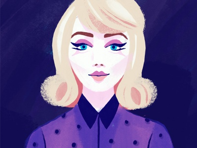 60s girl sixties editorial portrait creativity 2020 procreate art fashionillustration 60s web branding illustratie vector design illustration procreate