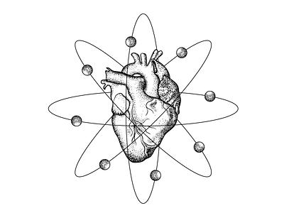 Atomic Heart graphic vector design dribbble heart love drawing art illustration 2d