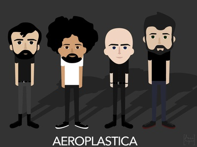 illustrations for Aeroplastica music band aeroplastica illustration vector illustrator cute kawaii