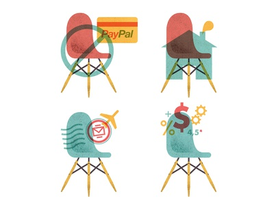 Illustrations for Fromlab.com illustration lawerta icon chair