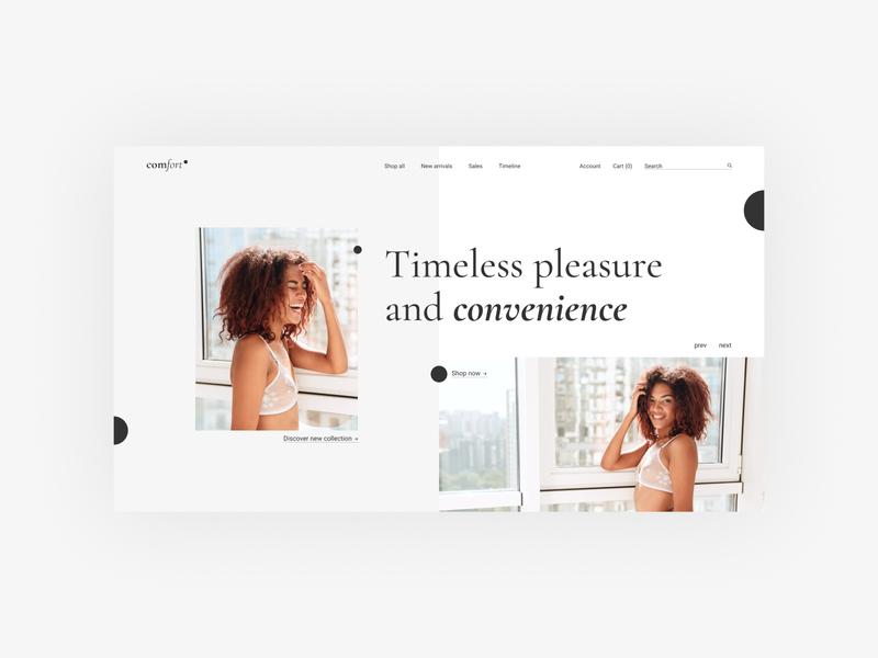 Lingerie shop 2 landing store underwear lingerie shop uidesign webdesign ui design