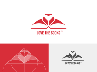 LOVE THE BOOKS concept heart book publishing house visual identification visual identity bookstore bookshop logo design logos logodesign branding concept branding design branding logotype logo