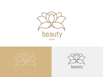 Beauty studio concept flowers lotos brand identity branding and identity branding concept visual identity branding design logos logotype branding logo