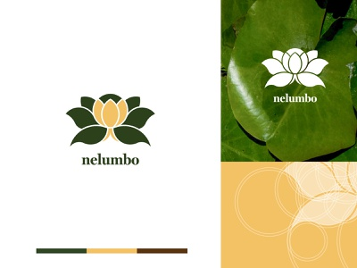 Nelumbo Natural SPA logo and visual identity logodesign logo designer nelumbo lotos lotus cosmetics spa design branding concept branding design logos branding visual identity logotype brand logo