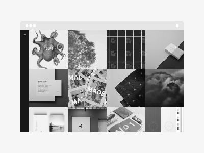 Boo WordPress Theme minimal minimalistic square grid portfolio themeforest theme wordpress