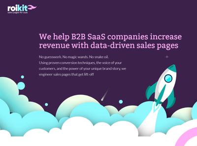 Roikit webflow designer copywriting conversion funnel salespage b2b sales saas