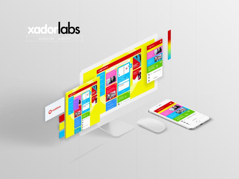Vodafone Portal personalized txt ux ui userinterface html css webdesign website portal