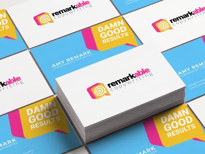 Remarkable Copywriting - Logo & Business Cards personalbranding business card design design vector illustration logo branding