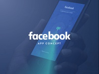 Ui Ux - App concept, Facebook, let's meet up!
