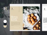 Branding, UI & Print Design - French Bakery