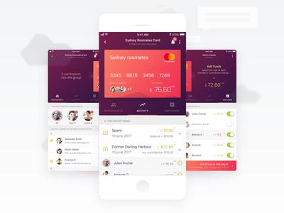iOS UI design App for DiviPay