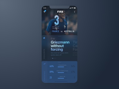 FIFA Livescore Concept Screen for iOS userinterface interface iphonex livescore ios mobileapp ui fifa