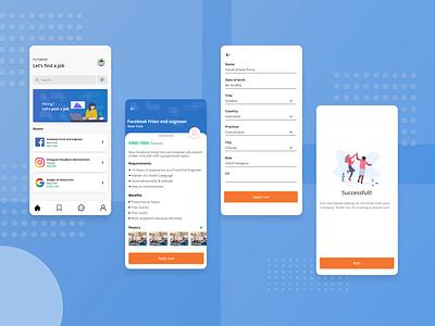 Hiring apps uiux mobile app design mobile app indonesia user interface ui  ux ui design ui uidesign design
