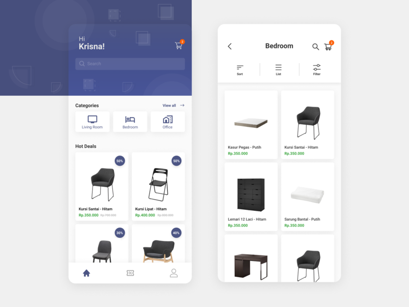 FurniApp uiux mobile app design mobile app indonesia user interface ui  ux ui design uidesign ui design