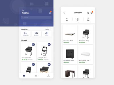 FurniApp uiux mobile app design mobile app indonesia user interface ui  ux ui design uidesign ui design