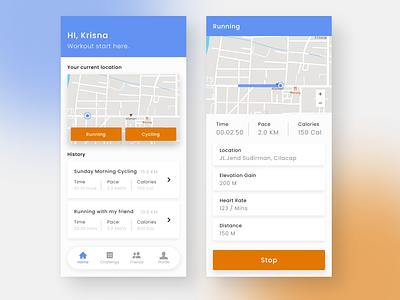 SimpleWorkOut App uiux mobile app design mobile app indonesia user interface ui  ux ui design uidesign ui design