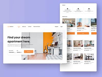 Apartmen Finder Website. uxui uisupply world worldwide branding uiuxdesign uidesigns uiux user interface ui  ux ui design uidesign ui design