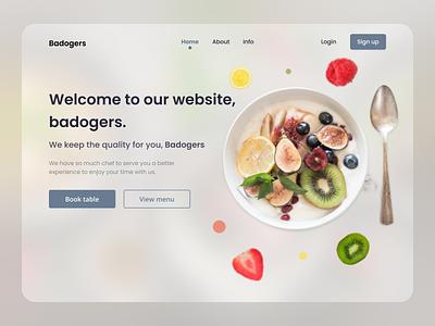 Badogers Landing Page website worldwide dezign highfidelity wireframe healthy food page landingpage website branding uiux user interface ui  ux ui design ui uidesign design