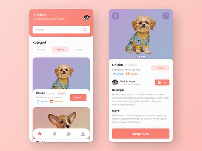 adopt animals app concept designui like uxessentials uisupply concept idea fresh uxui figma apps adopting animals branding uiux user interface ui  ux ui design ui uidesign design