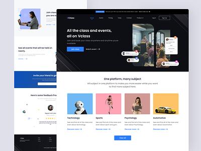 Virtual Class Website web product design design thinking wireframing graphic design human uisuplly figma uxui ux webapp website concept uiux user interface ui  ux ui design uidesign ui design