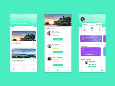 Tour Guide apps design user interface mobile design mobile app design mobile ui mobile app ui design uidesign ui  ux ui