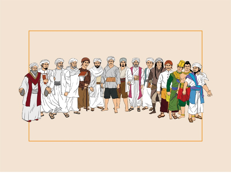 Sang Pembuka: All Characters vector illustration